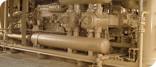 Side view photo of an Natural Gas Compressor